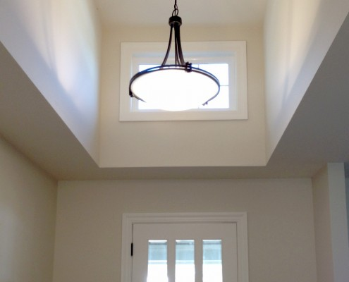 Oak Electric Home Remodel Foyer Lighting