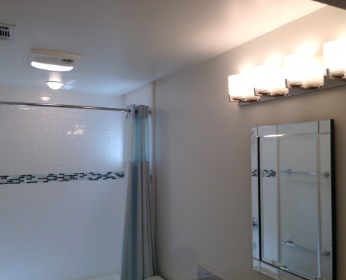 Oak Electric Home Remodel Bathroom